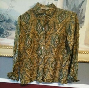 Liberty of London Silk Blouse in a lovely paisley